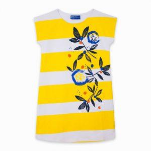 Tuc Tuc 11300496 meiteņu kleita balta ar dzeltenu