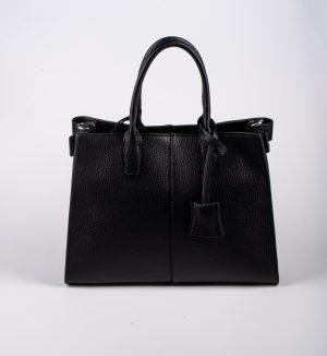 Laura Di Maggio 308 Nero sieviešu ādas soma melnā krāsā