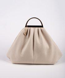 Laura Di Maggio 309 Latte sieviešu ādas soma bēšā krāsā