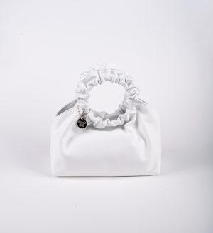 Laura Di Maggio 394 Blanco sieviešu ādas pleca soma baltā krāsā