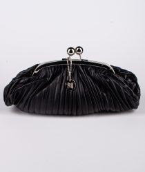 Laura Di Maggio 513 Nero sievešu ādas soma melnā krāsā