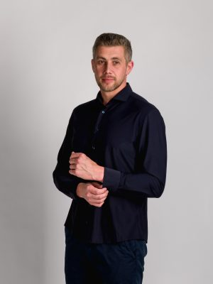 Fakts 6010-291 vīriešu krekls tumši zilā krāsā