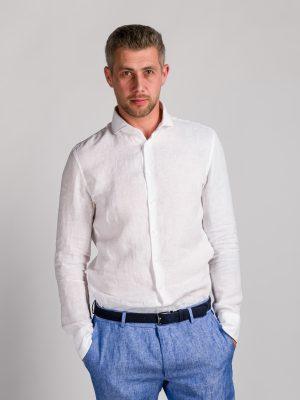 Fakts 6018-111 vīriešu krekls baltā krāsā