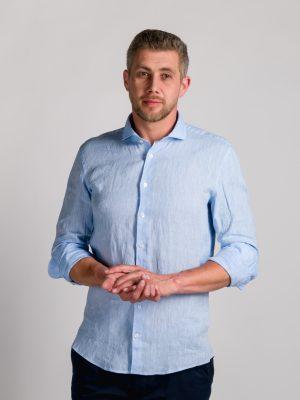 Fakts 6018-211 vīriešu krekls gaiši zilā krāsā