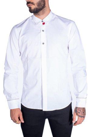 Takeshy Kurosawa 82803BIANCO vīriešu krekls baltā krāsā