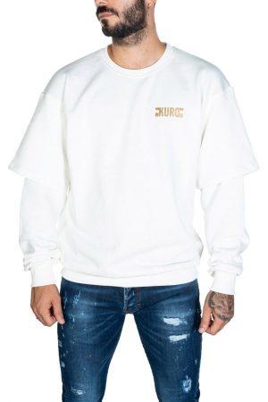 Takeshy Kurosawa 82846BIANCO vīriešu džemperis baltā krāsā