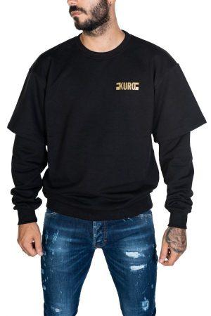 Takeshy Kurosawa 82846NERO vīriešu džemperis melnā krāsā