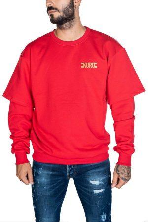 Takeshy Kurosawa 82846ROSSO vīriešu džemperis sarkanā krāsā