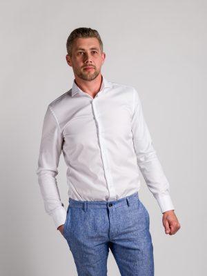 Fakts 9000-111 vīriešu krekls baltā krāsā