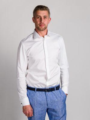 Fakts 9010-111 vīriešu krekls baltā krāsā