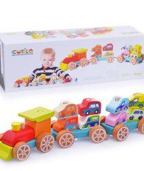 EcoToysCity 13999 koika vilciens ar mašīnām