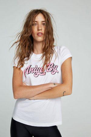 Aniye By 185632680 sieviešu T-krekls baltā krāsā