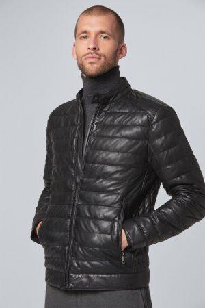 Strellson 1100062311100861 vīriešu ādas jaka melnā krāsā