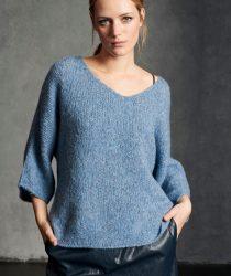 Luisa Cerano 1489165292250 sieviešu džemperis zilā krāsā
