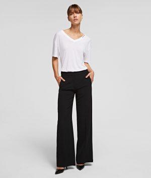 Karl Lagerfeld 211W1003999 sieviešu auduma bikses melnā krāsā