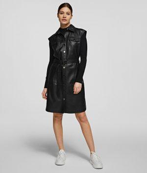 Karl Lagerfeld 211W1308999 sieviešu kleita melnā krāsā