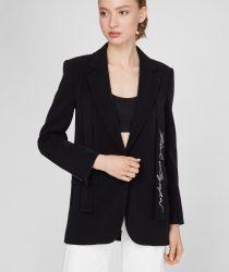 Karl Lagerfeld 211W1405999 sieviešu žakete melnā krāsā
