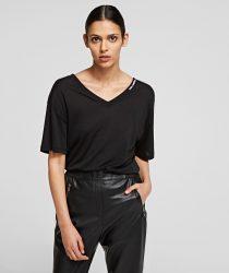 Karl Lagerfeld 211W1701999 sieviešu T-krekls melnā krāsā