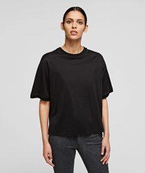 Karl Lagerfeld 211W1707999 sieviešu T-krekls melnā krāsā