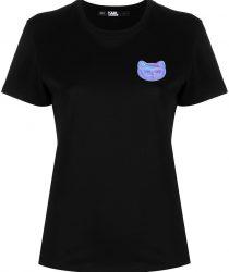 Karl Lagerfeld 211W1716999 sieviešu T-krekls melnā krāsā