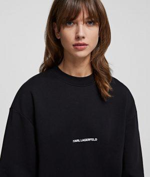 Karl Lagerfeld 211W1880999 kokvilnas džemperis melnā krāsā