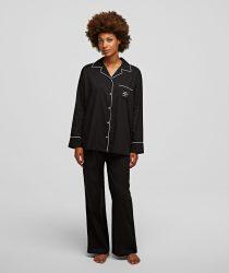 Karl Lagerfeld 211W2131999 sieviešu pidžama melnā krāsā