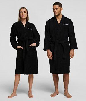 Karl Lagerfeld 211W2180999 sieviešu halāts melnā krāsā