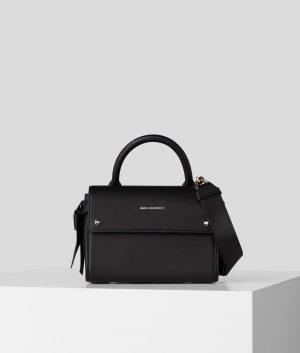 Karl Lagerfeld 211W3053999 sieviešu ādas soma melnā krāsā