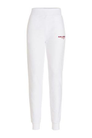 Karl Lagerfeld 215W1051100 sieviešu sporta bikses baltā krāsā