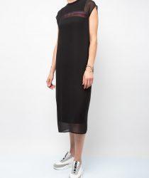 Karl Lagerfeld 215W1350999 sieviešu midi kleita melnā krāsā