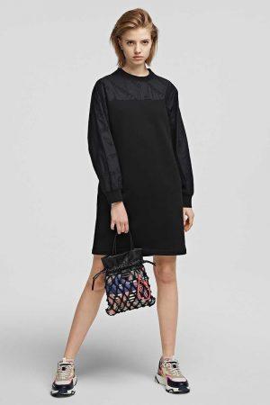 Karl Lagerfeld 215W1351999 sieviešu mini kleita melnā krāsā