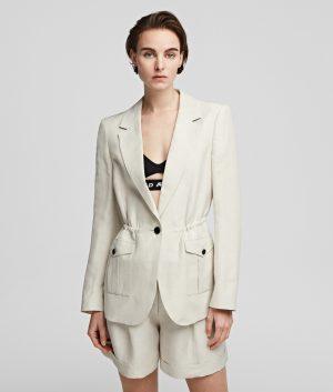 Karl Lagerfeld 215W1403110 sieviešu žakete gaiši bēšā krāsā
