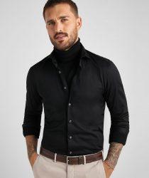 Baldessarini B31100049159000 vīriešu krekls melnā krāsā