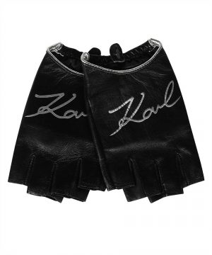 Karl Lagerfeld 215W3603987 sieviešu cimdi, melni