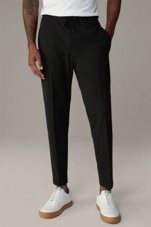 Strellson 30023374001 vīriešu auduma bikses melnā krāsā