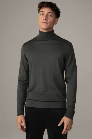 Strellson 30027987311 vīriešu džemperis zaļā krāsā