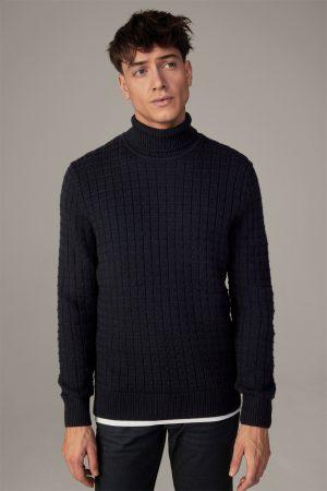 Strellson 30028017401 vīriešu džemperis, tumši zils