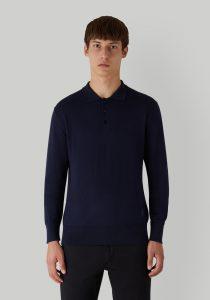 Trussardi 52M004910F000689U290 vīriešu polo T-krekls, tumši zils