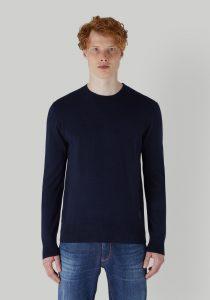 Trussardi 52M005060F000695U290 vīriešu džemperis, tumši zils