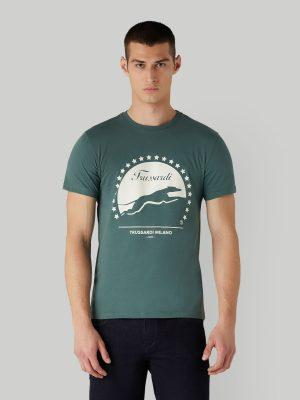 Trussardi 52T004491T005053G271 vīriešu T-krekls, zaļš
