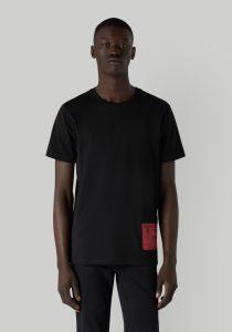 Trussardi 52T005101T005461K299 vīriešu T-krekls, melns