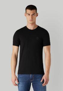 Trussardi 52T005351T003077K299 vīriešu T-krekls, melns
