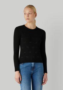 Trussardi 56M004310F000683K299 sieviešu džemperis, melns