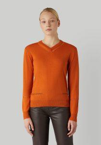 Trussardi 56M004370F000688O189 sieviešu džemperis, oranžs