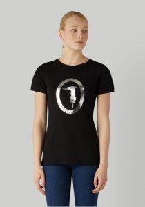 Trussardi 56T004211T003077K299 sieviešu T-krekls, melns