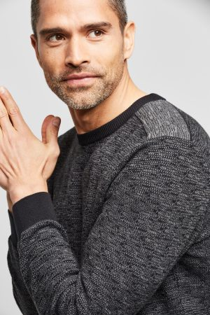 Bugatti 740085524290 vīriešu džemperis, melns