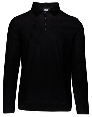 Karl Lagerfeld 745004512201990 vīriešu polo krekls, melns