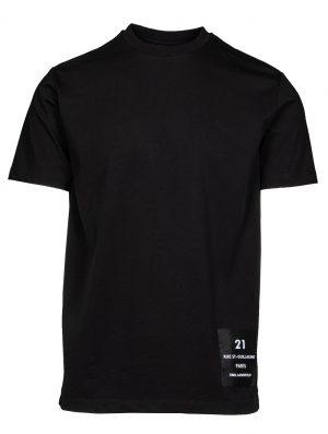 Karl Lagerfeld 755043512224990 vīriešu T-krekls, melns