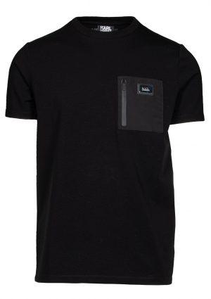 Karl Lagerfeld 755051512221690 vīriešu T-krekls, melns