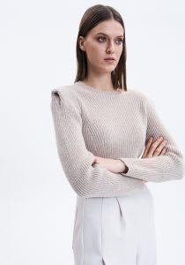 UNQ 8122872005370 sieviešu džemperis, gaiši brūns